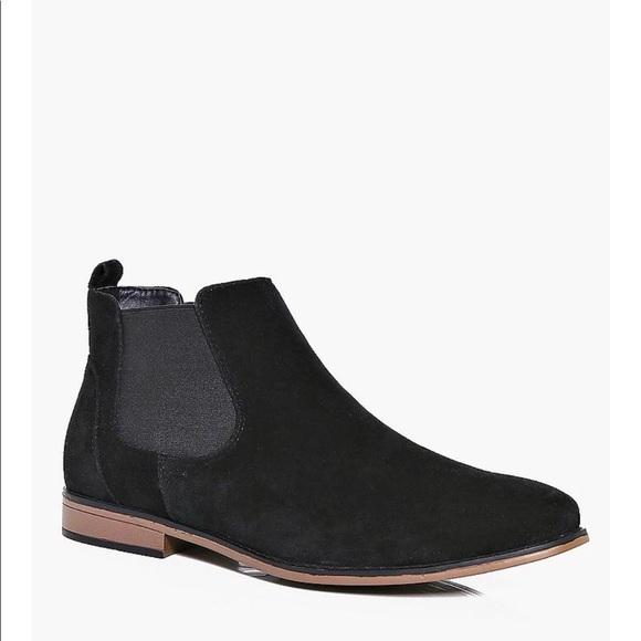 Black Faux Suede Chelsea Boots (MENS) NWT